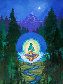 Amoghasiddhi Buddha With Garuda